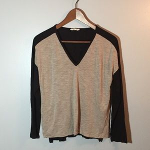 🖤Madewell Color block Top Size M